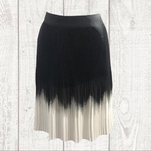 WHBMarket Black and White Ombré Pleated Skirt 8